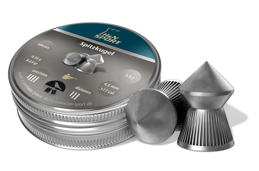 Seriøst H&N SpidsHagl 4,5mm 500 stk. i metaldåse. LV98