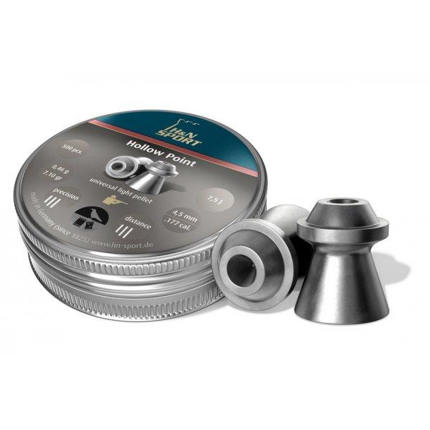 H&N Hollowpoint 4,5mm 500 stk. i metaldåse