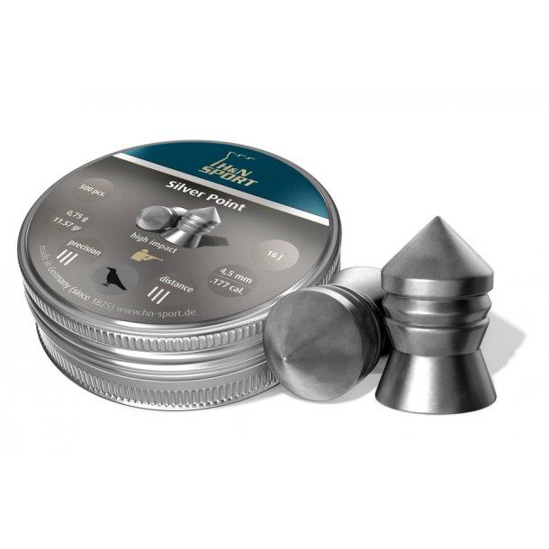 H&N Silver Point 5,5mm 200 stk. i metaldåse