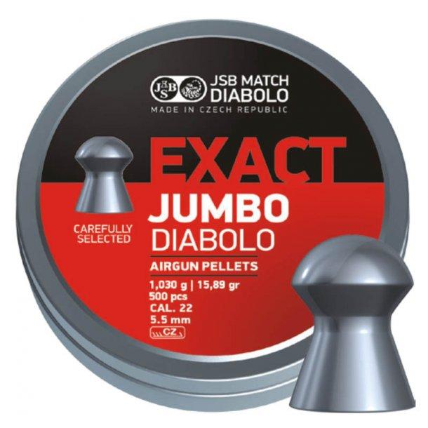 JSB Diabolo Exact Jumbo 5,52mm æske med 500 stk.