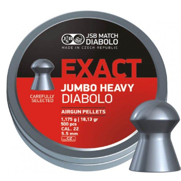JSB Diabolo Exact Jumbo HEAVY 5,52mm 500 stk.