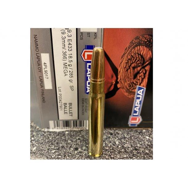 Genladt Jagt Ammo 9,2x62Lapua Mega 18,5 gram